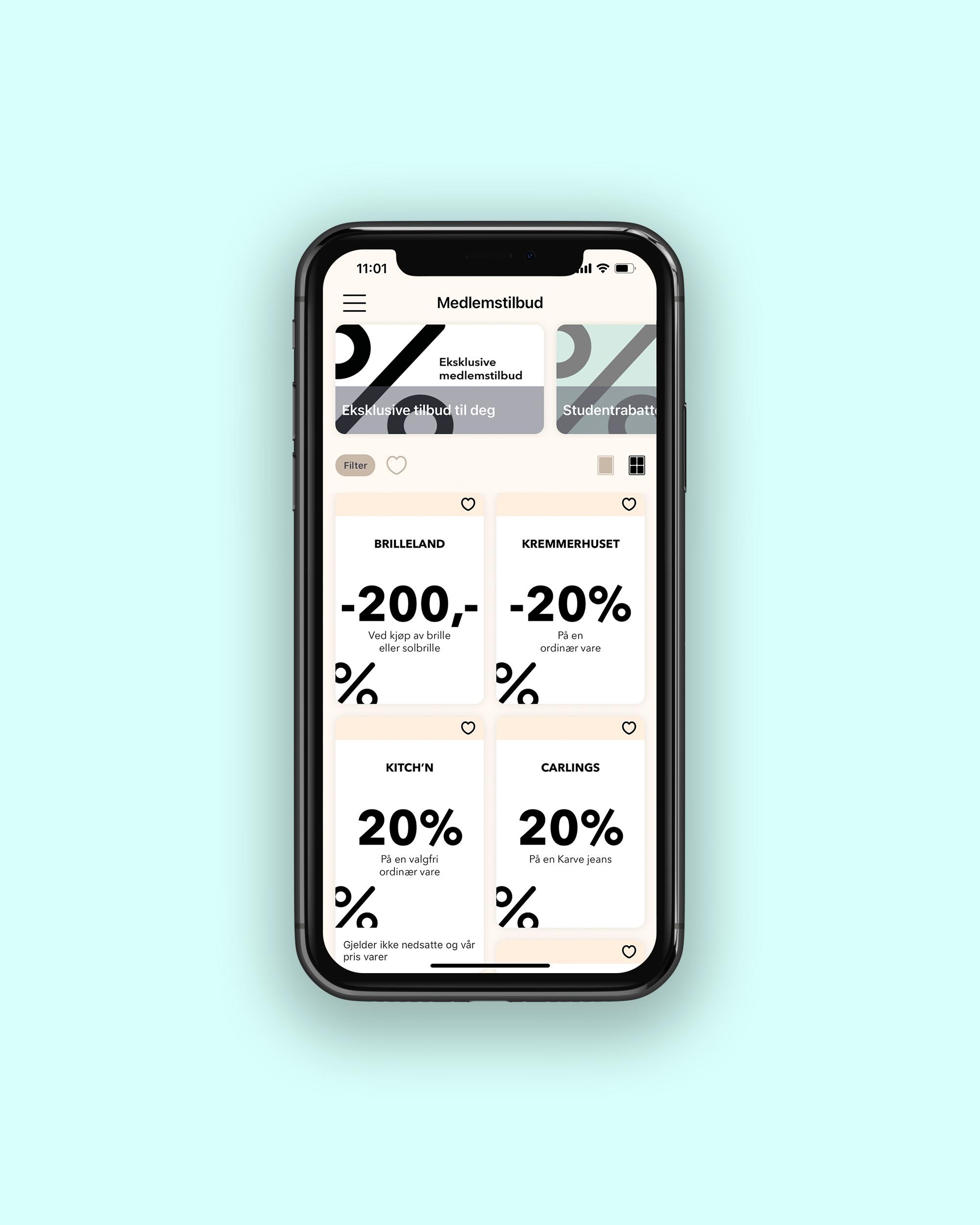 CC Gjøvik kundeklubb app, kuponger