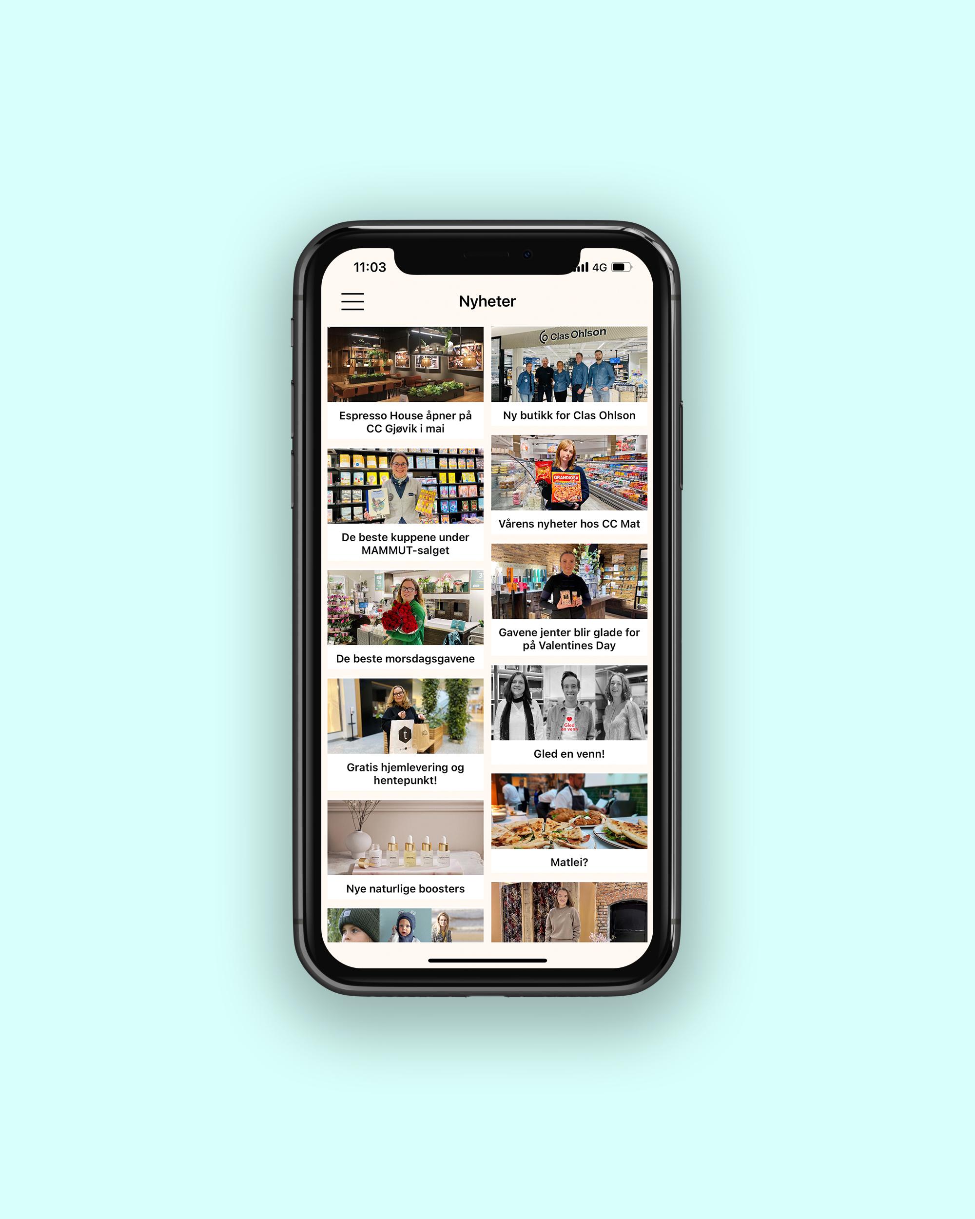 CC Gjøvik kundeklubb app, nyheter