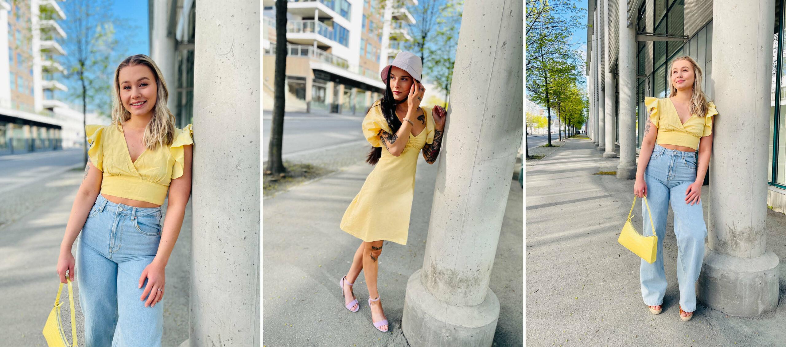 Modeller med klær fra Bik Bok