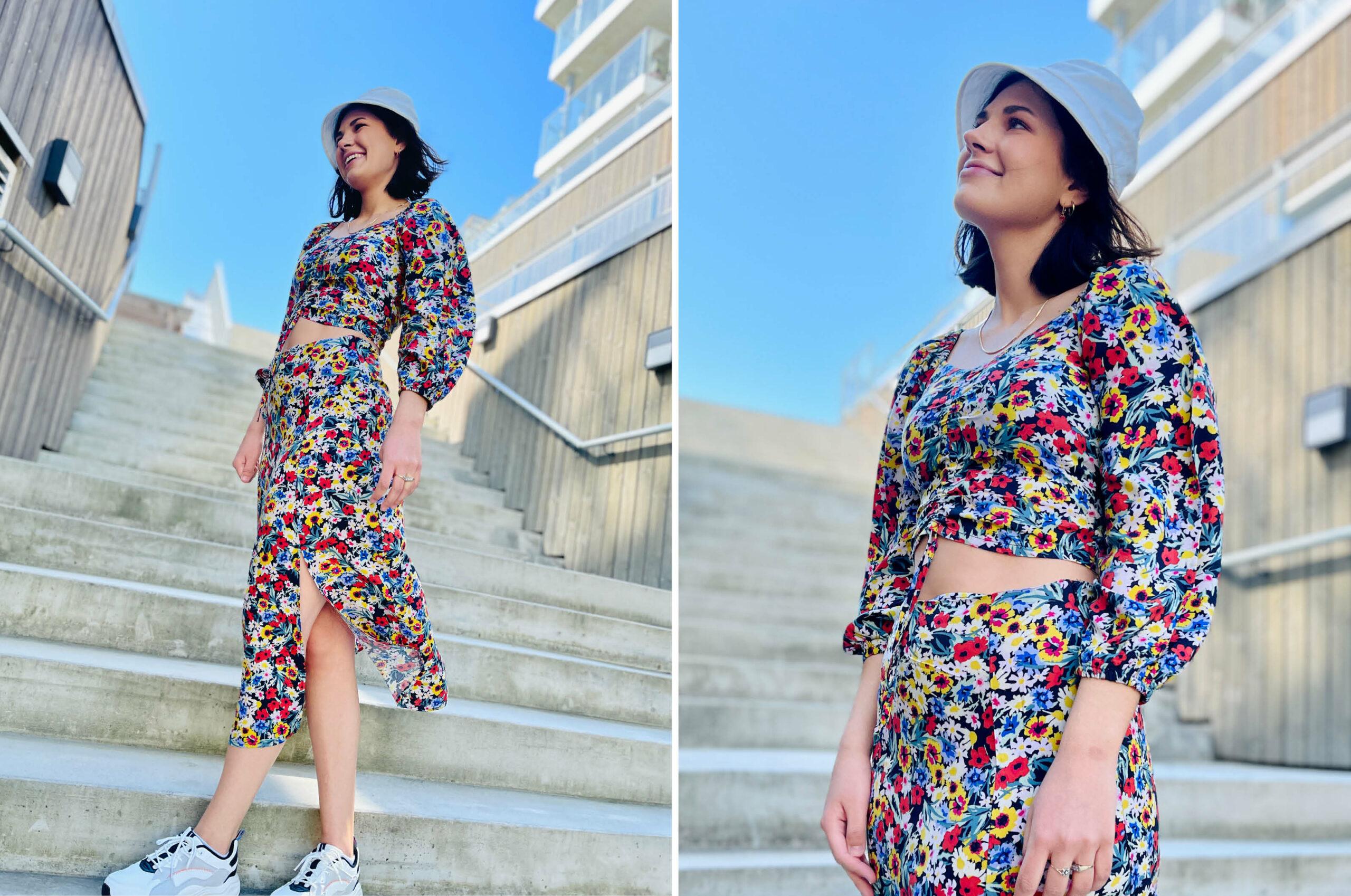 Modell med klær fra Lindex