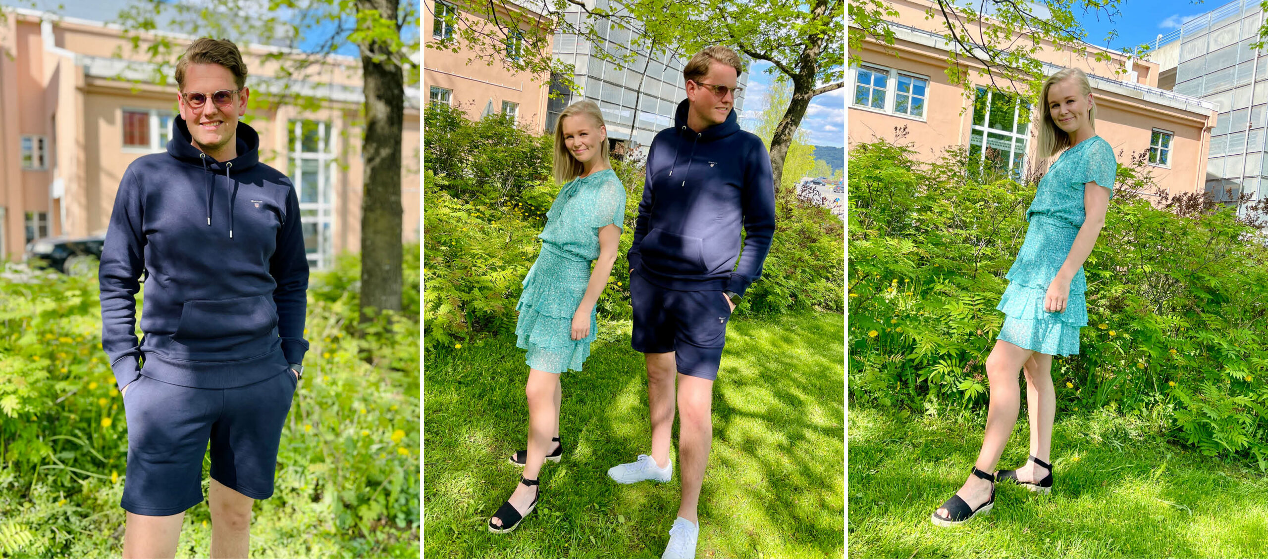Modeller med klær fra Match