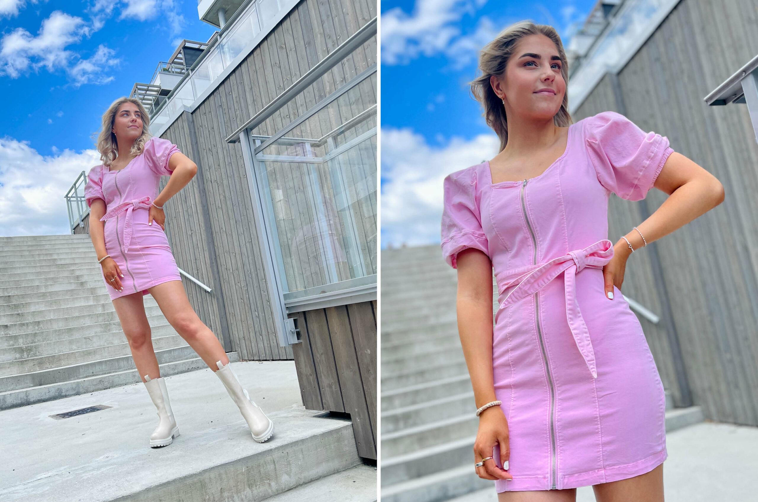 Modell med kjole fra Vero Moda