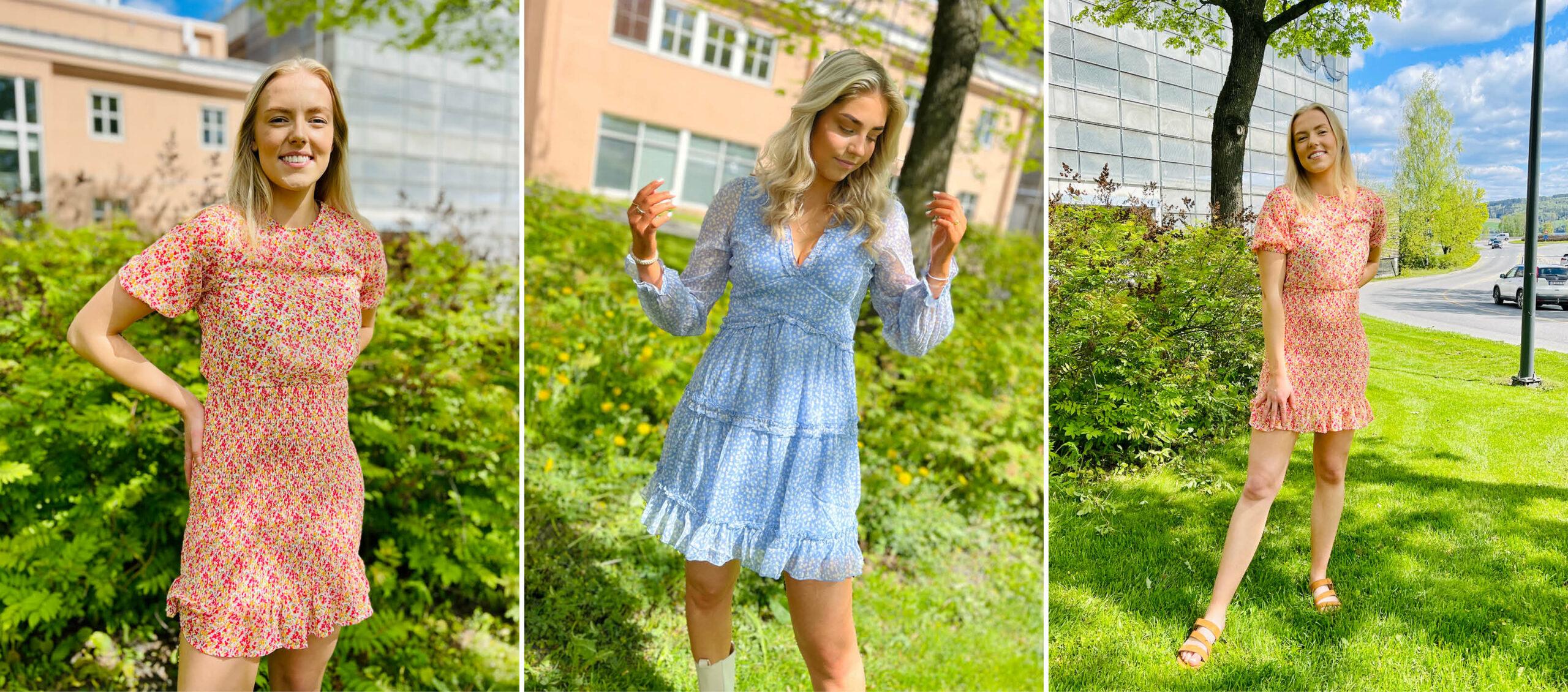 Modeller med kjoler fra Vero Moda
