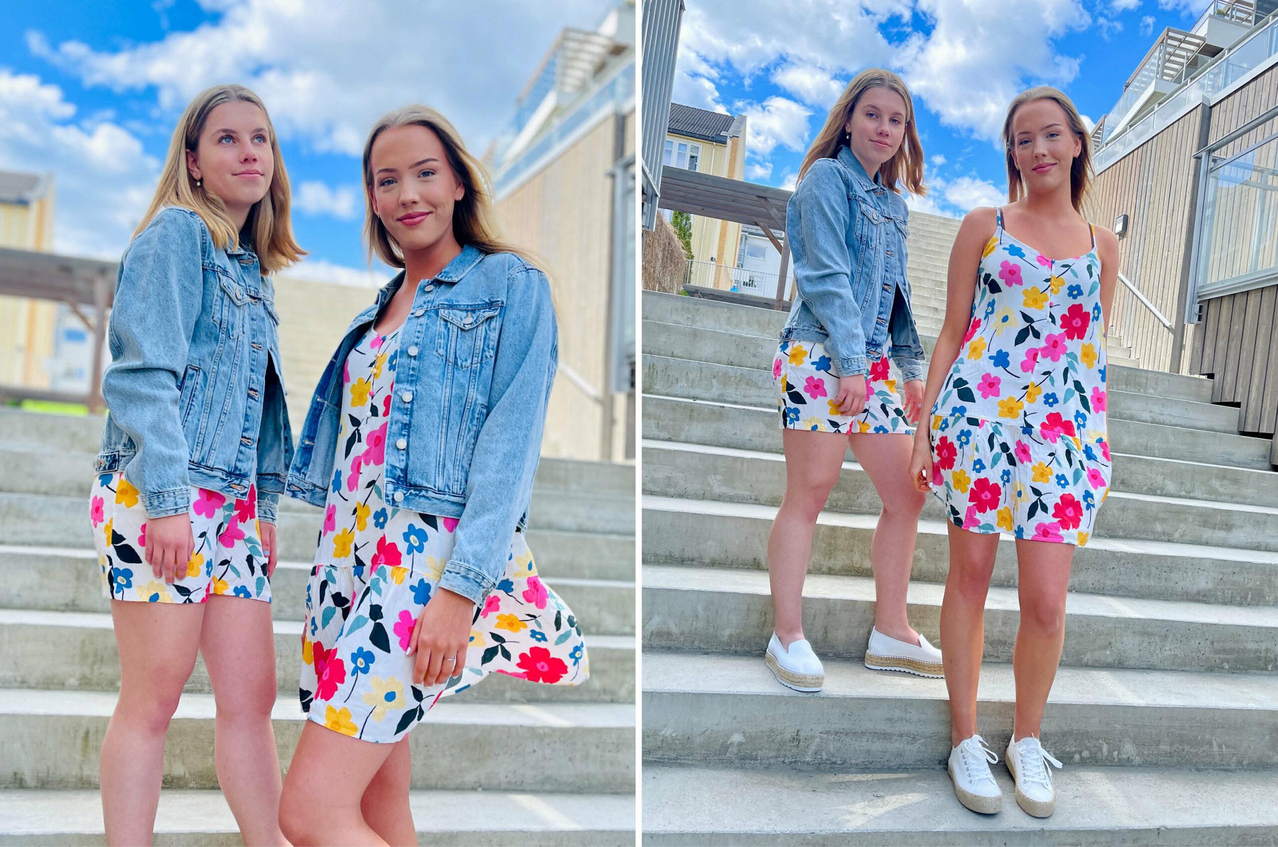 Modeller med klær fra Cubus