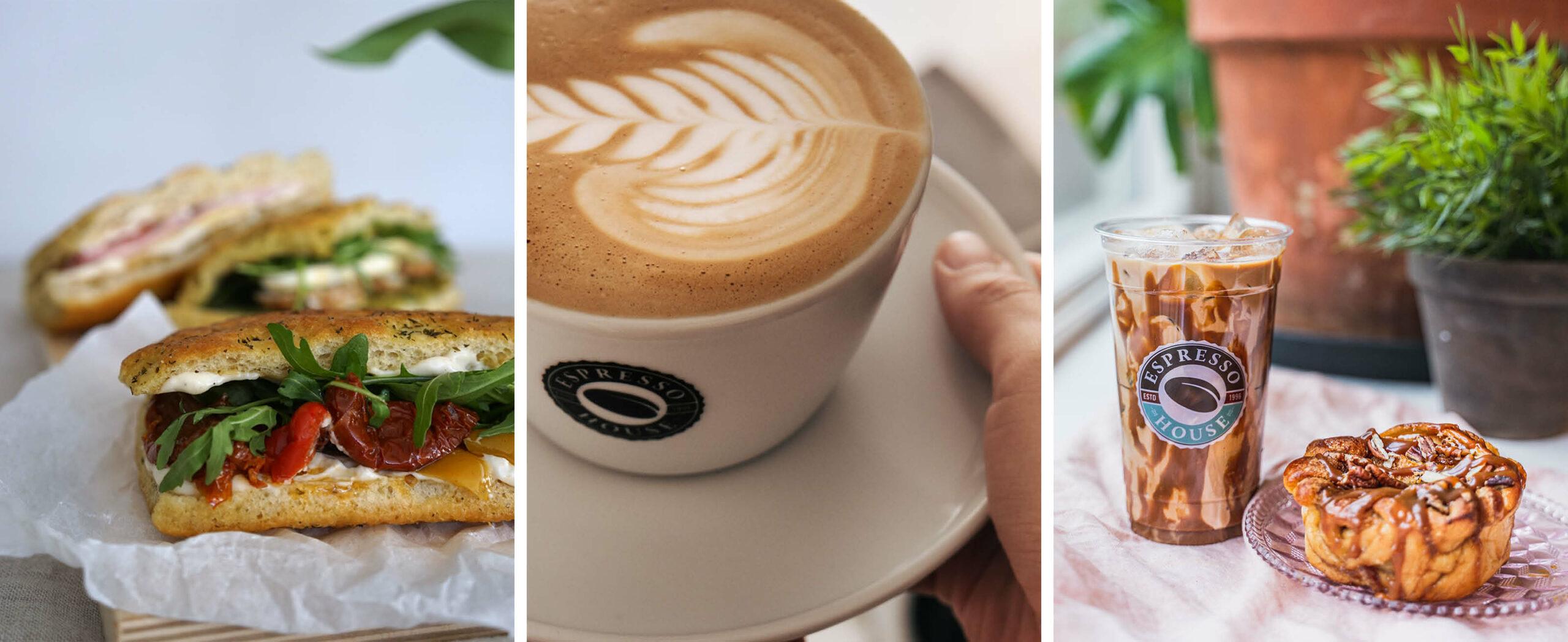 Mat, kaffe og bakverk fra Espresso House