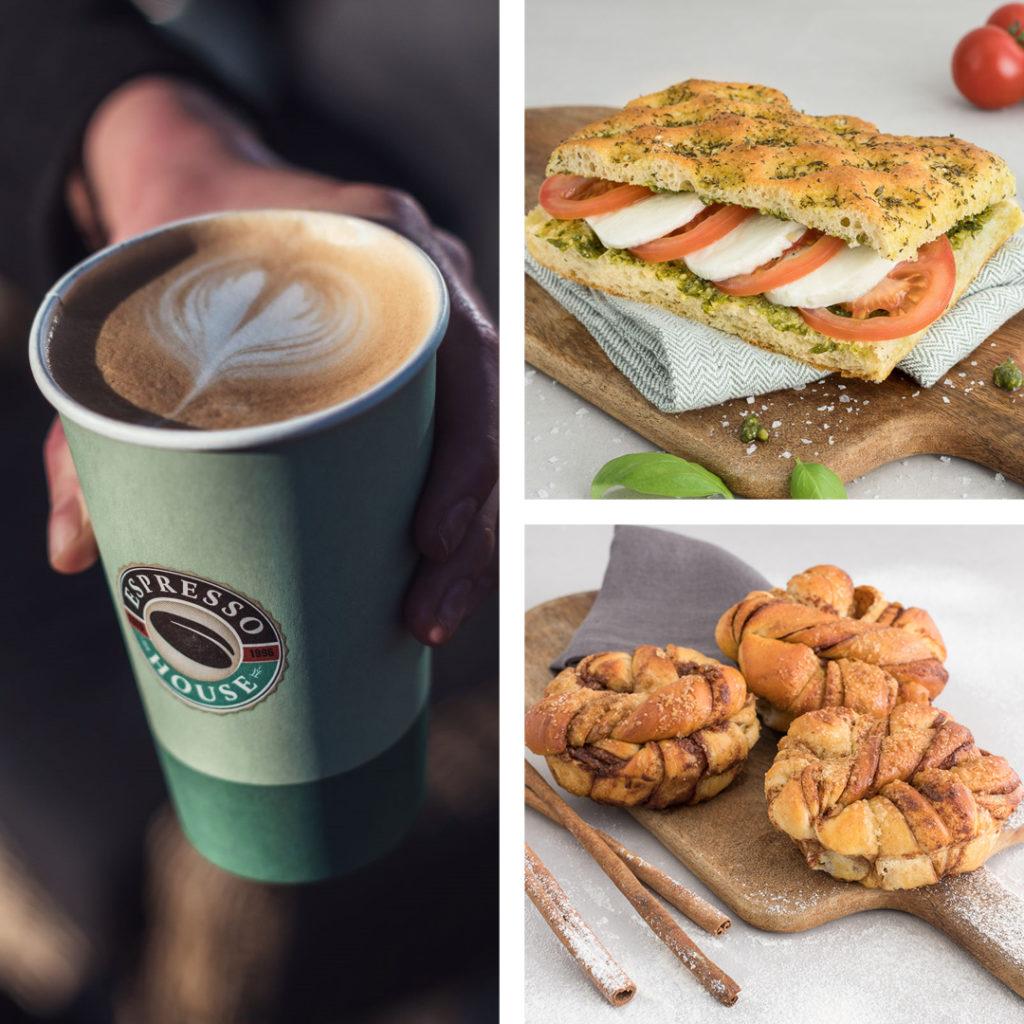 Bilde av mat og drikke fra Espresso House