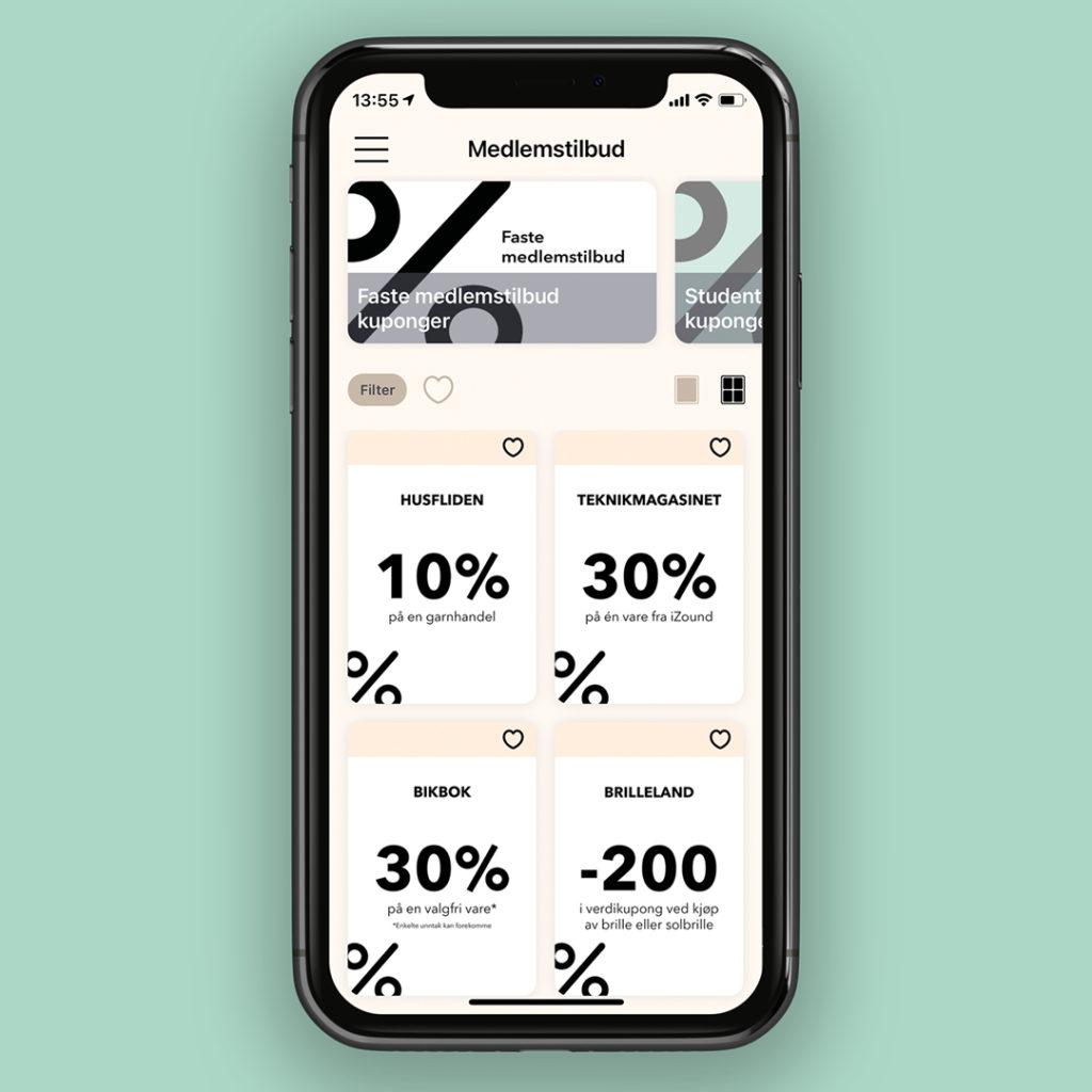 Bilde av kundeklubb app kuponger