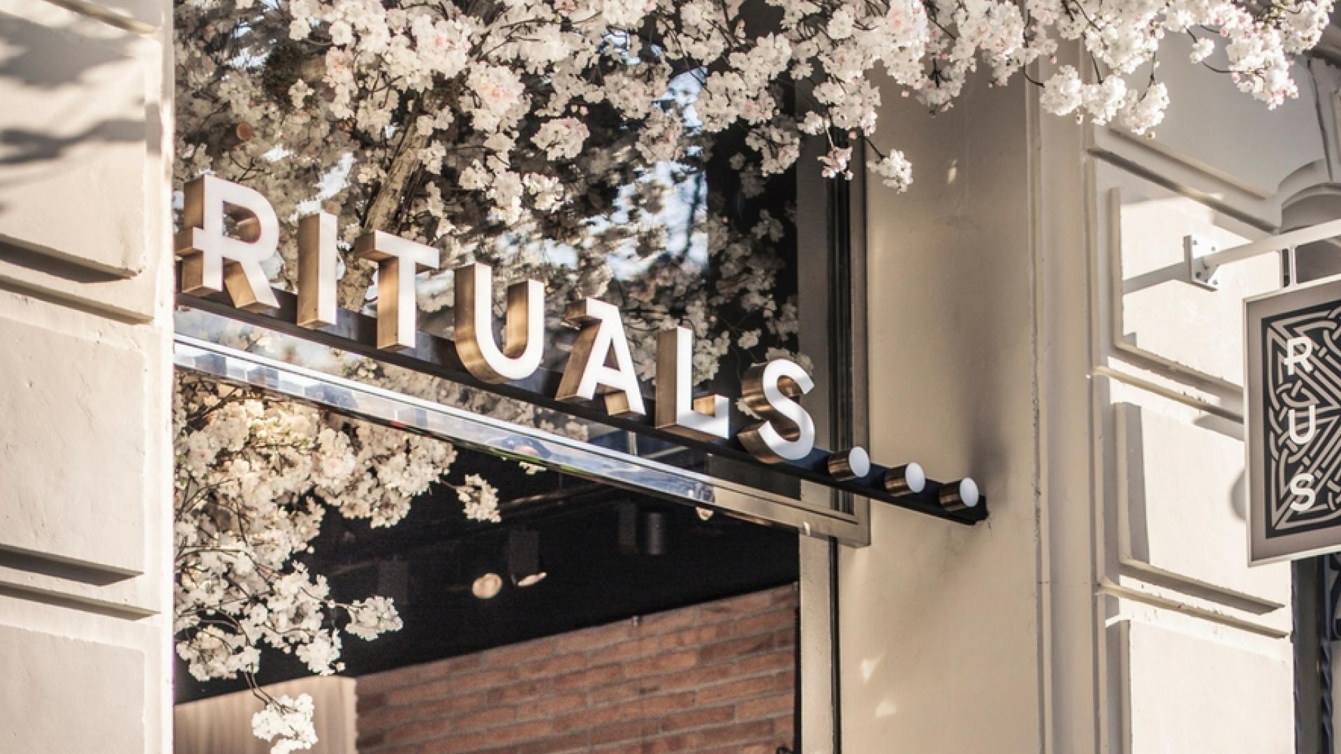Bilde av Rituals butikkfasade med skilt