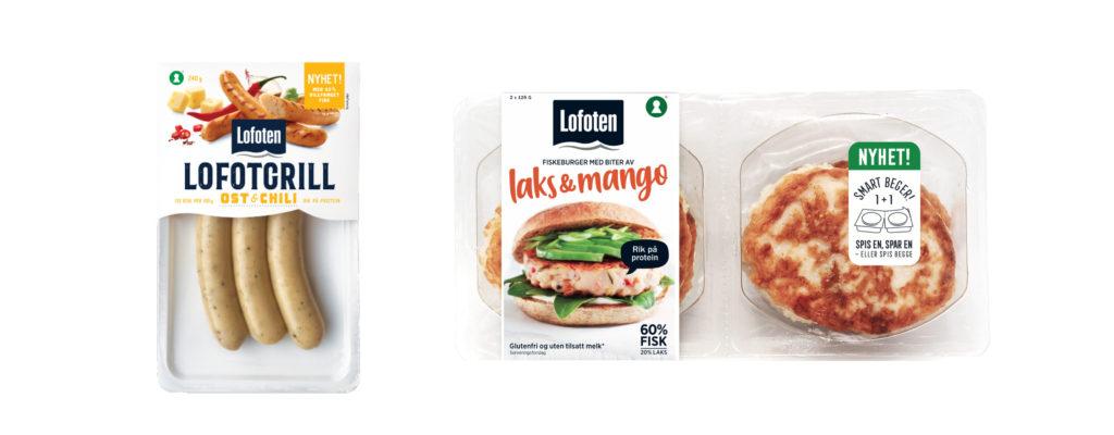 Bilde av vårnyheter lofotgrill og lakseburger med mango
