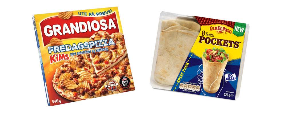 Bilde av matnyheter grandiosa med kims pottetgull og tortilla pockets