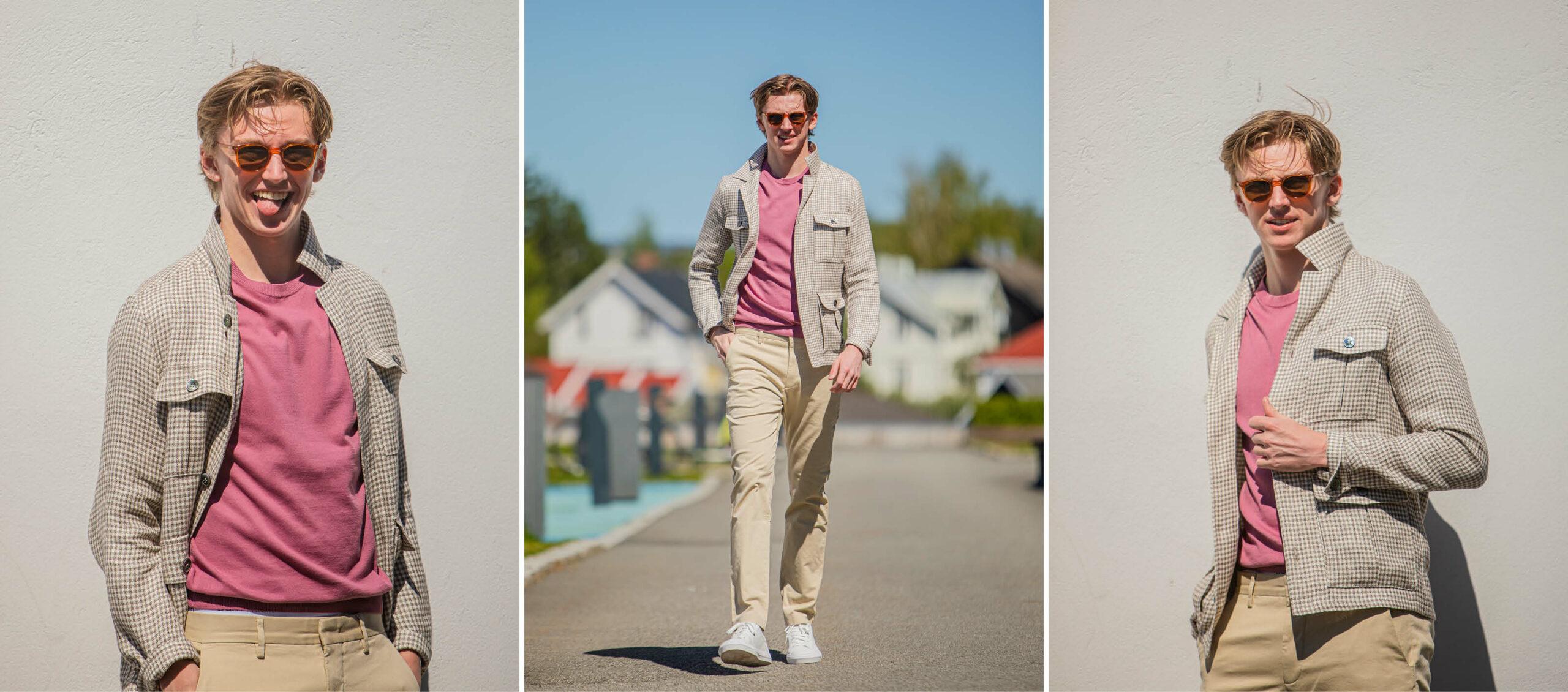 Modell med klær fra CC Hamar